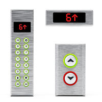 Elevator panels with buttons and LCD display. 3D illustration