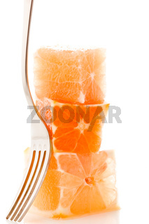 Stacked orange cubes