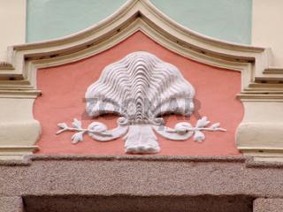 Hausschmuck in Eger (Cheb)