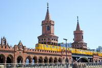 The Oberbaumbridge in Berlin, Kreuzberg