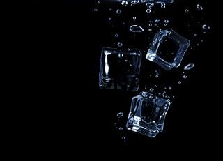 Ice cubes underwater