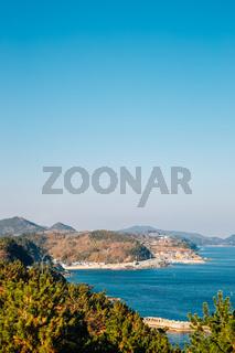 Sea view from Yeongdeok Sunrise Park in Yeongdeok, Korea