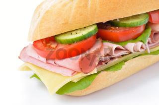 Frisches Schinkensandwich