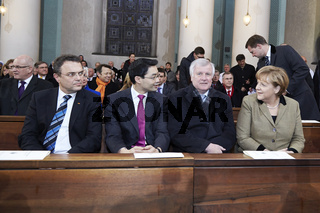 Thanksgiving Service for Pope Benedikt XVI takes places at the St. Hedwigs Cathedral in Berlin.