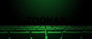 Cinema movie theatre with green seats rows and a black background. Horizontal banner