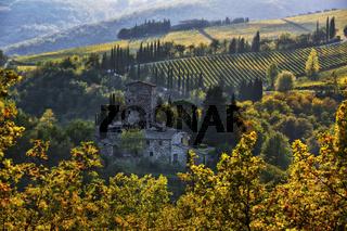 Castello di Grignano, Chianti, Toskana, Italy