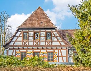 Gebäude beim Schloss Oberstaad, Öhningen am Bodensee