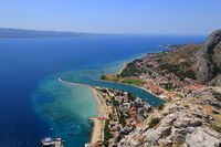 View of Omis in Croatia