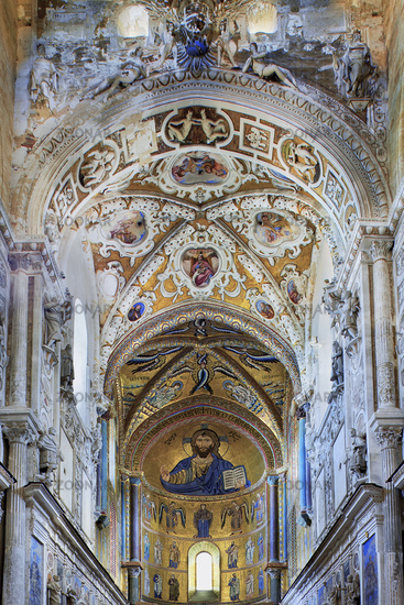 apse, cathedral of Cefalu, Sicily, Italy