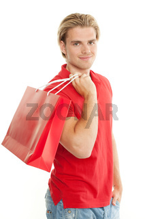 mann beim shoppen