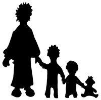 Family Single Silhouettes