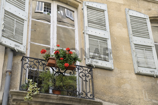 Flowers and Windows, Place des Trois Ormeaux, Aix-en-Provence, France