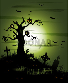 Greeny Halloween background