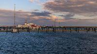 The city harbour in Sassnitz, Mecklenburg-Western Pomerania, Germany
