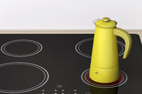 Moka pot on ceramic electric cooktop