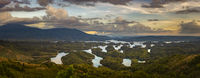 Amazing view of Ta Dung lake. Panorama landscape