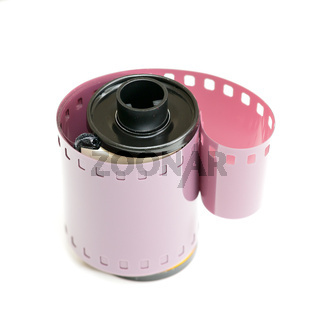 35mm film canister and coiled negative