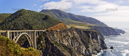 panoramic view of the 101 at Big Sur