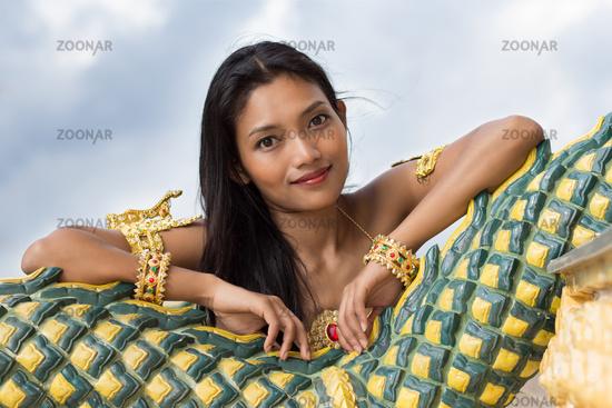 Portrait of Thai lady