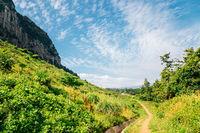 Sanbangsan Mountain and Jeju Olle Trail in Jeju Island, Korea