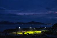 Sunset over Namhae Sports Park
