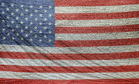 Woven stitched fabric pattern American flag