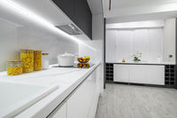 Luxury white and black modern marble kitchen