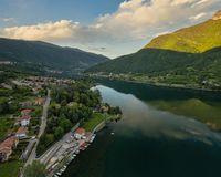 Aerial shot of Endine Lake