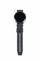 black smart sports watch isolated