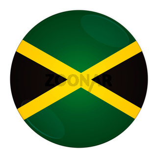 Jamaica button with flag