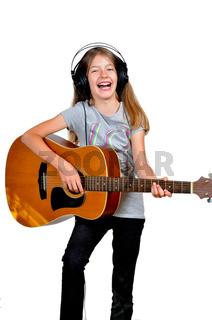 Mädchen Musik Gitarre