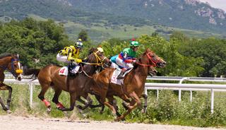 Horse racing in Pyatigorsk.
