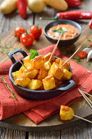 Spanish hot potato appetizer