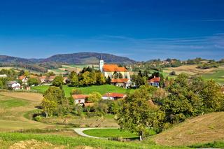 Idyllic green nature of croatian village of Glogovnica