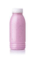 Bottle of homemade blueberry smoothie