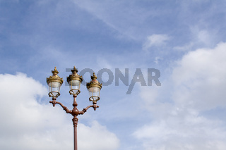 Streetlamp, on the square of the royal palace of Rabat