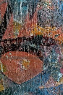 Graffiti auf Holz