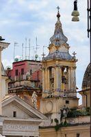 Santa Maria in Montesanto and Santa Maria dei Miracoli basilics in Rome