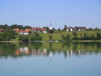 Idyllic Swiss village Seegraeben, Seegraben. Zurich Canton.