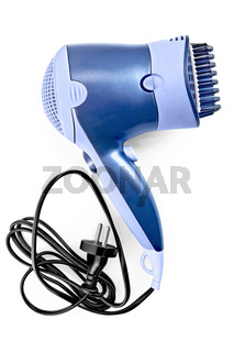 Hair dryer with comb attachment