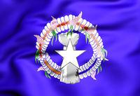 3D Flag of Northern Mariana Islands. 3D Illustration.