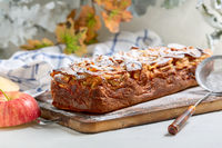 Invisible apple cake. French cuisine.