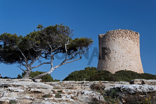 Wachturm bei Cala Pi auf Mallorca