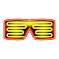 Heon Glasses Isolated on White Background. Stylish Gadget for Night Club
