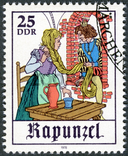GERMANY - 1978: shows Scene from fairy tale 'Rapunzel'