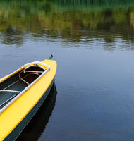 Kayak on river.
