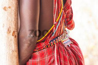Masai traditional costume