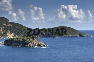 Küste bei Paleokastritsa auf Korfu, Griechenland