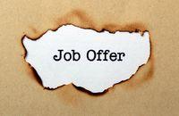 Job offer concept