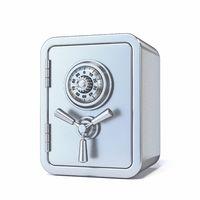 Locked steel safe 3D